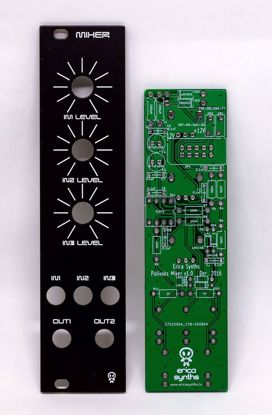 Picture of Erica Synths DIY – Mixer PCB and Panel Set